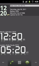Advanced Clock Widget