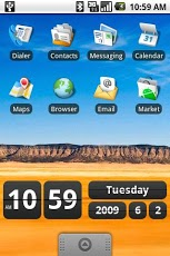 Retro Clock Widget