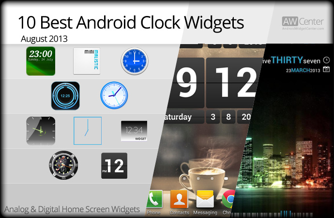 Date and time widget in Perth