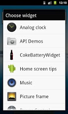 Cola Battery Widget