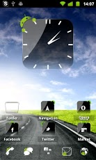 Crystal Black Clock Widget