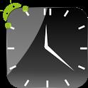 Crystal Black Clock Widget