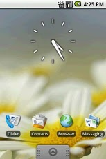 Transparent Clock Widget 2x2 02