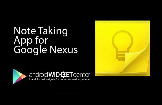 Note Taking App for Nexus
