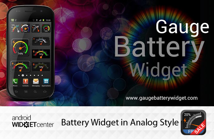 Analog Battery Widget