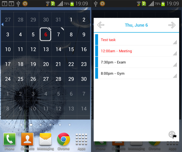 Weekly Calendar Android : Pure calendar android widget aw center