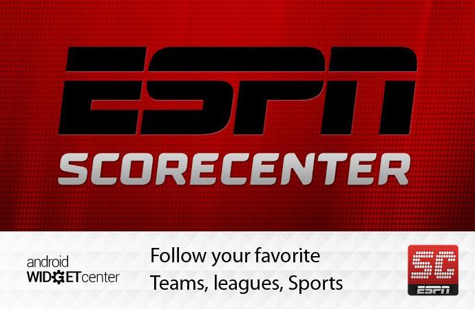 Android-Sports-score-widget