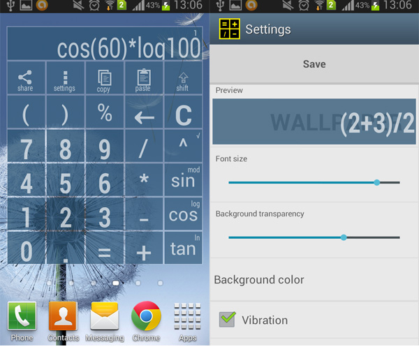 Android-Widget-Calculator