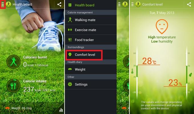 Check Temperature on Galaxy S4