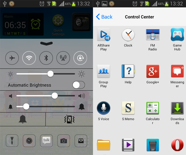 Android-Control-Center