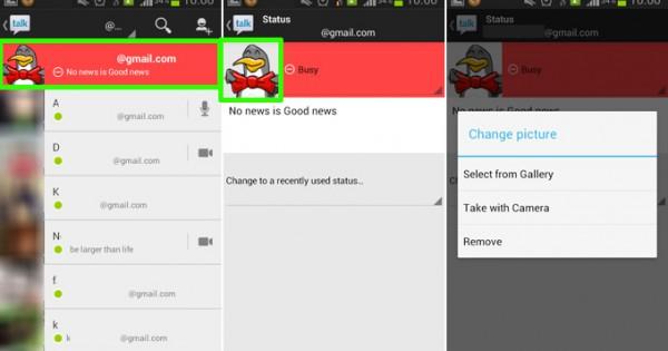 change gmail photo