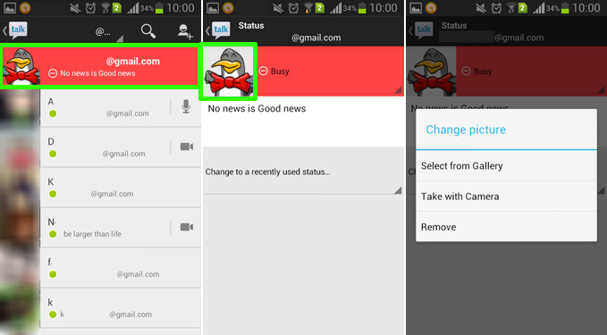 how to change gmail profile picture on android