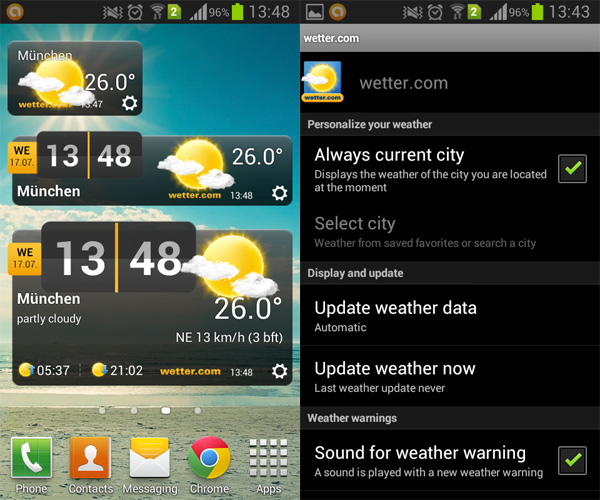 Germany-Weather-Widget