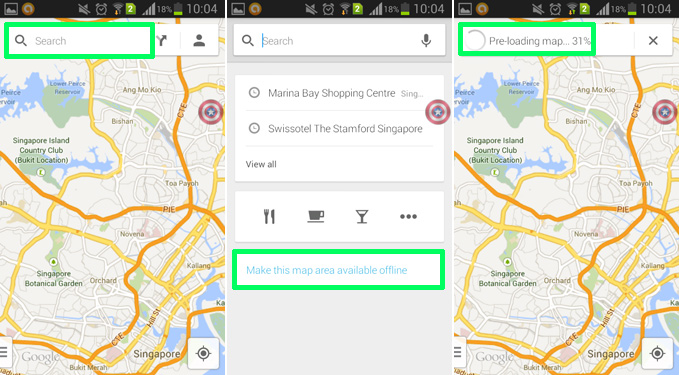 Maps yet, see: How to save Google Maps for offline use on Android