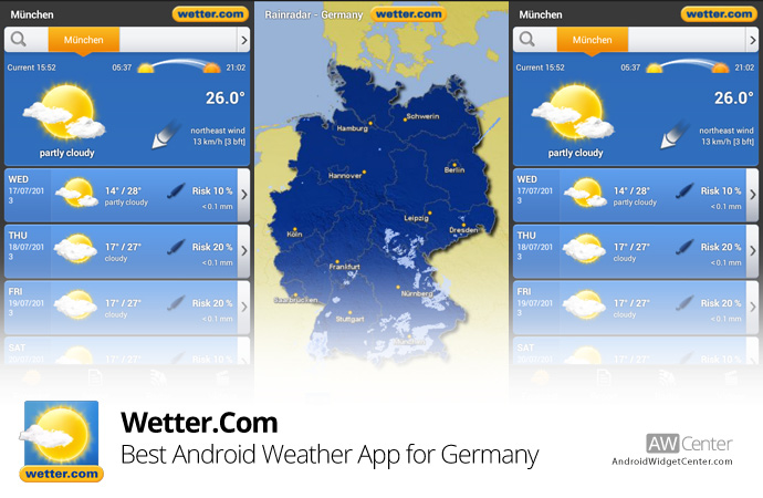 Weather-Widget-for-Germany