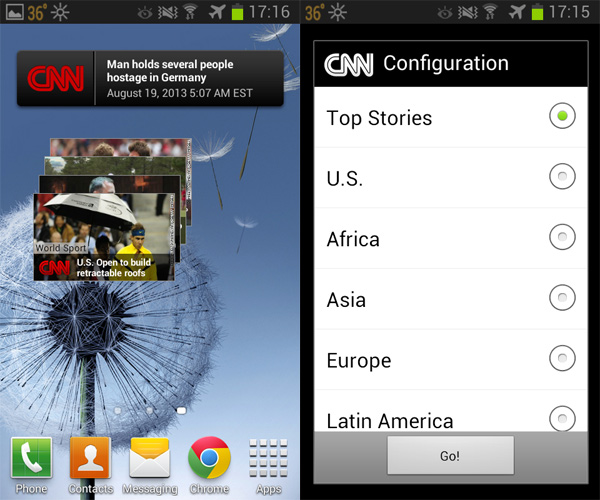 Android-CNN-Widget