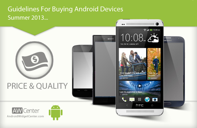 Comparing Android devices based on price