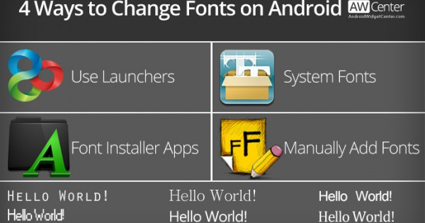 Change Fonts on Android Without Rooting / Requires Root | AW Center