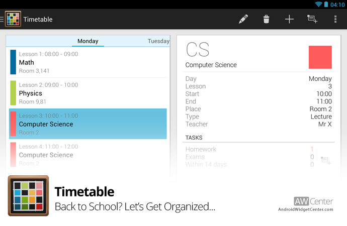Android-Timetable-Widget