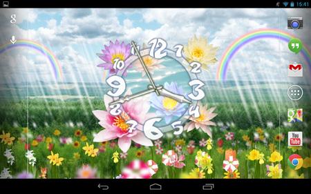 Flower-Clock-Live-Wallpaper