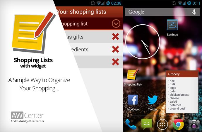 Simple-Shopping-Lists-Widget