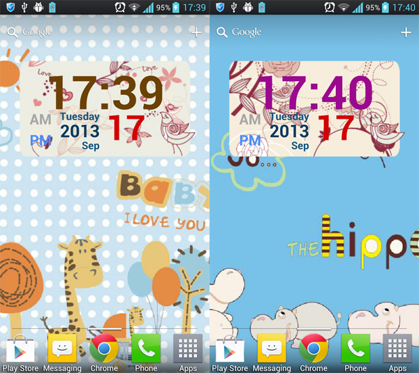 Android-Flowers-And-Birds-Clock-Widget