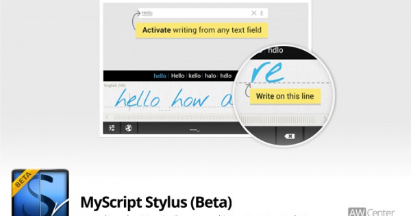 android tablet stylus writing app