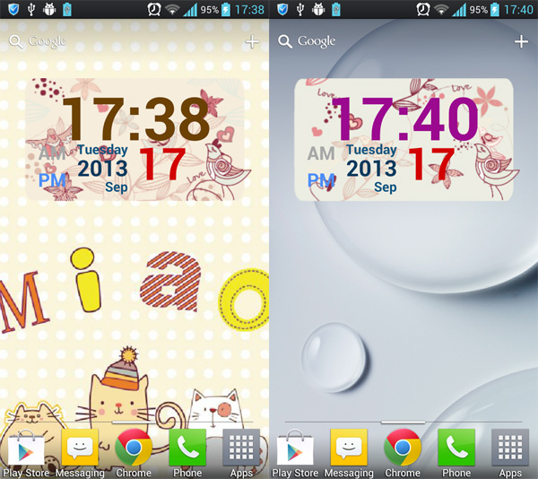 Flowers-And-Birds-Clock-Widget-for-Home-Screen