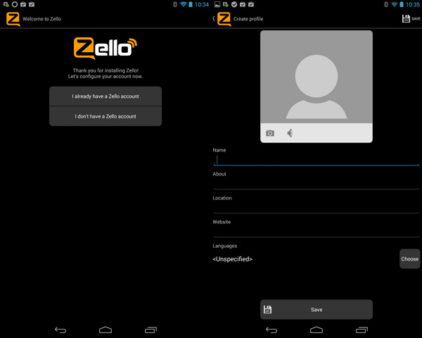 Zello Registeration
