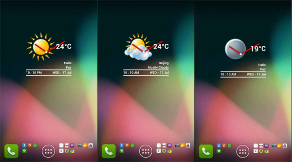 Best Android Clock and Weather Widgets - November 2013 | AW Center