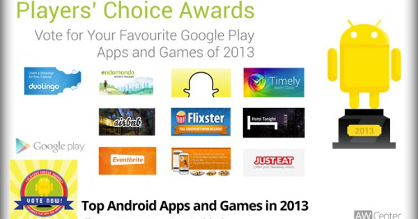 Vote for the Top Google Play Apps and Games in 2013