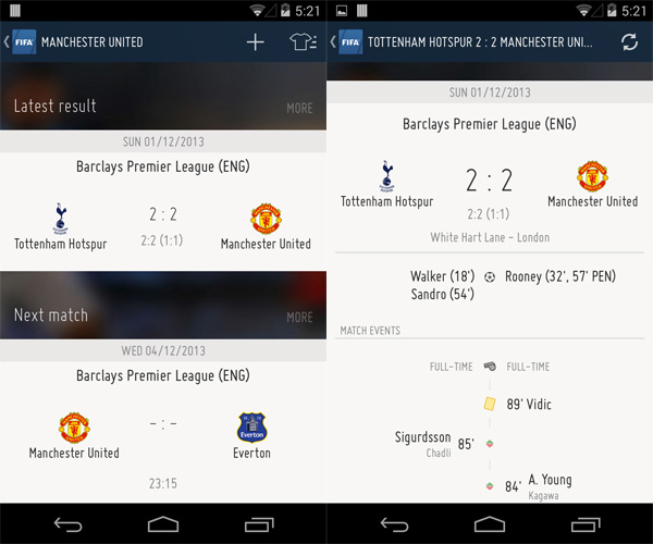 FIFA-Android-App-Match-Center