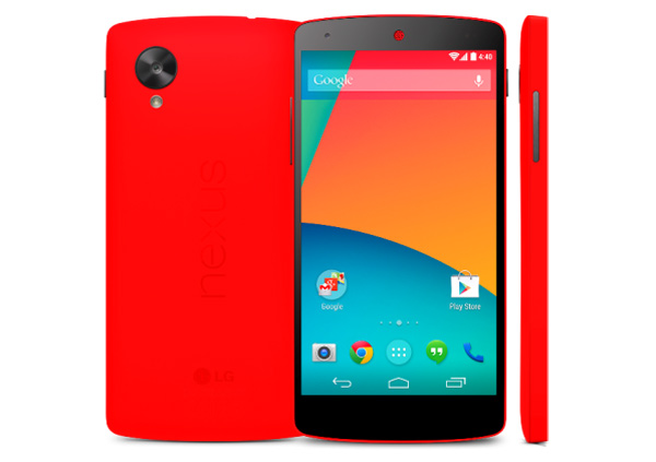 Google-Nexus-5-in-Red-								is-Official