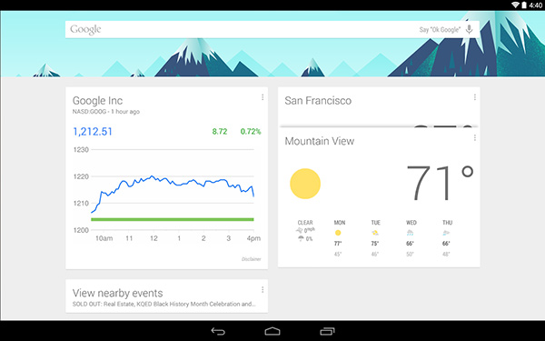 Google-Now-La								uncher-Interface
