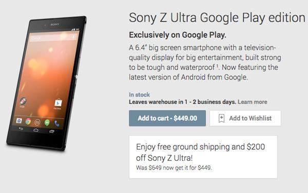 Sony-Z-Ultra-GPE-Price-Cut