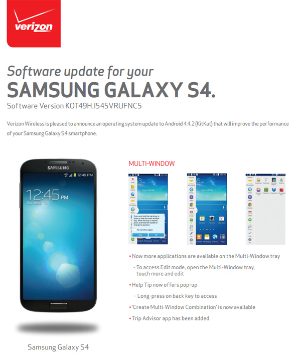 Verizon-Galaxy-S4-KitKat-Update