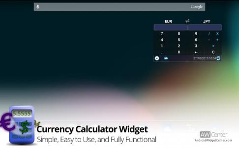 Currency-Calculator-Widget