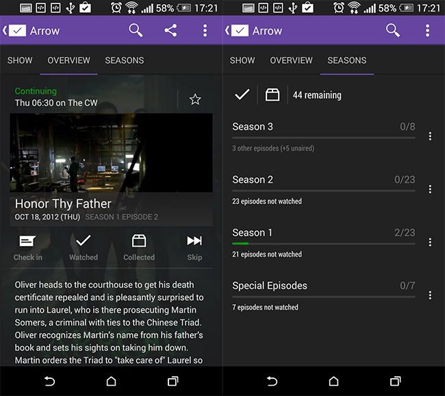 SeriesGuide-for-Android-TV-Shwos