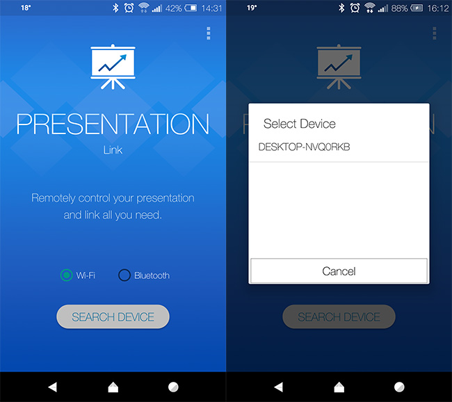 Presentation-Remote-App-for-Android-connect-Bluetooth-Wi-Fi