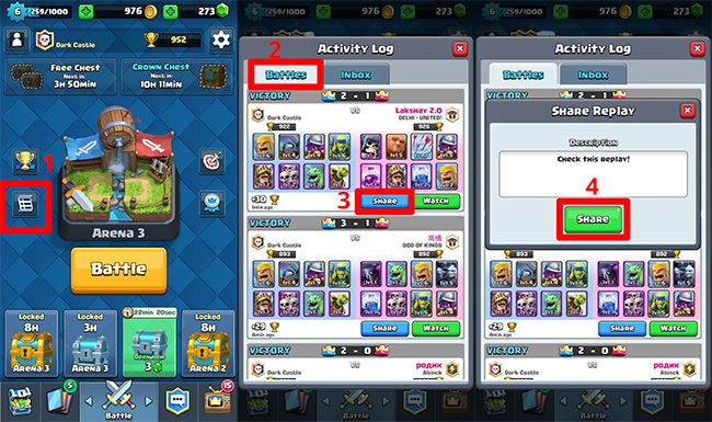 How-to-share-a-battle-on-Clash-Roylae-to-Clan
