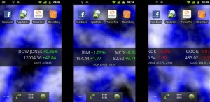 Android Stocks Tape Widget