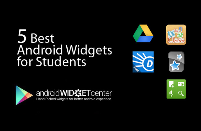 5 Best Android Widgets for Students | AndroidWidgetCenter com