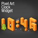 Pixel Art Clock Widget