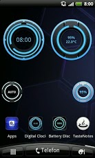 Digital Clock Disc Widget