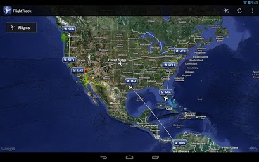 Android Flight Track App | AndroidWidgetCenter.com