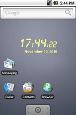 LCD clock widget