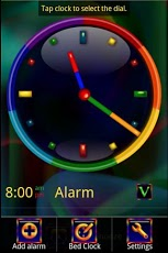 Rainbow Alarm Clock Widget