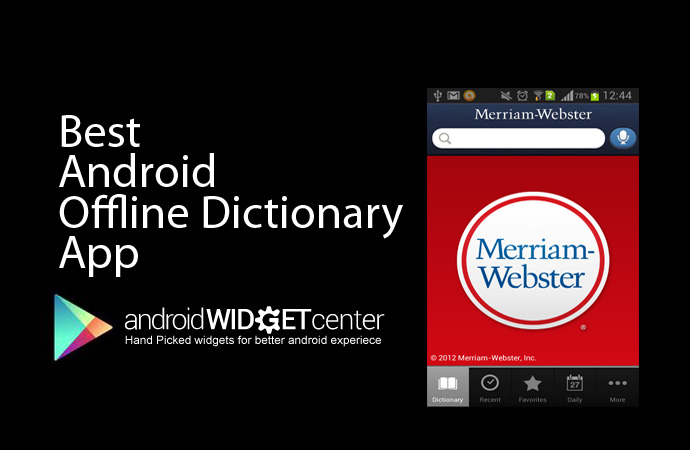 Android Offline Dictionary