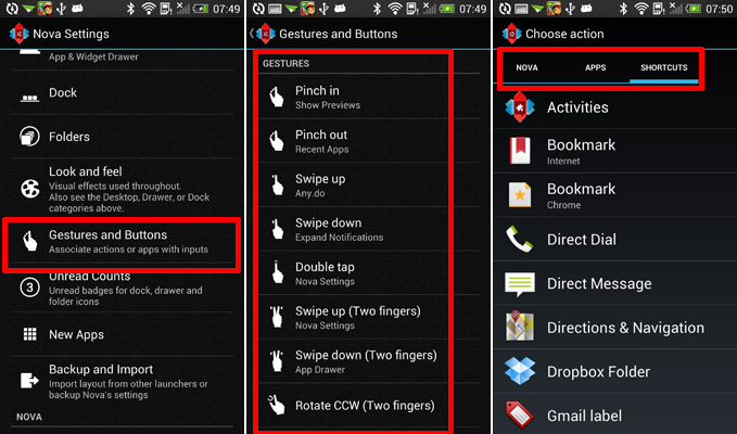 How to Add Gestures on Nova Launcher Prime | AW Center