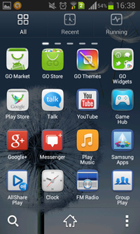 All Apps on Go Launcher